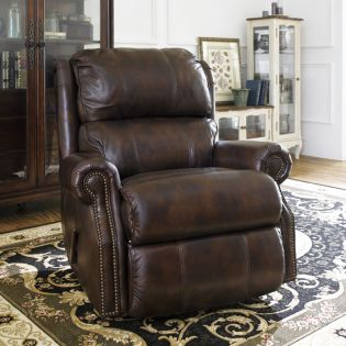 1227-510  Leather Glider Recliner