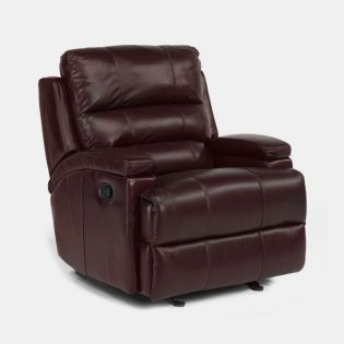 1303  Leather Glider Recliner