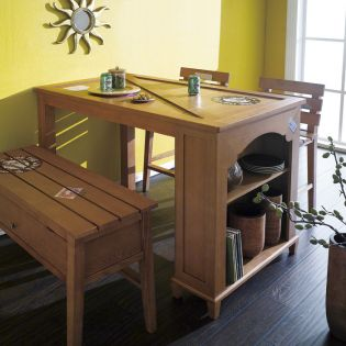 D515-2  Island Dining Set (1 Table + 2 Chairs)  2인