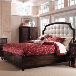 Intrigue 61155  Leather Panel Bed (침대+협탁+화장대)