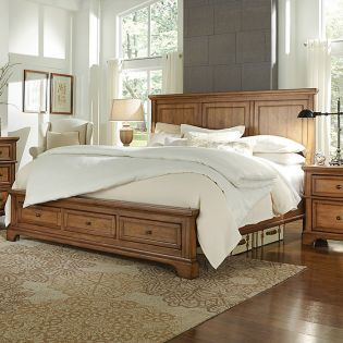 i09 Alder Creek  Panel Storage Bed (침대+협탁+화장대) ~Storage Drawer~