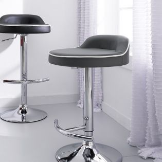 64988-Grey-Solina  Adjustable Bar Stool