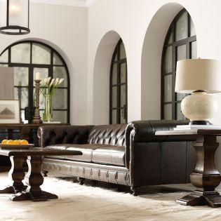 2279LO  London Club Leather Sofa