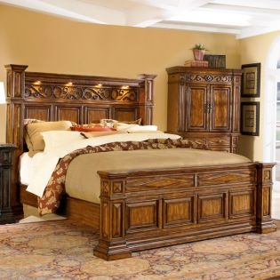 44136 Marbella  King Panel Bed  (침대)