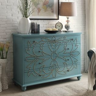 Nailhead-Blue  Chest