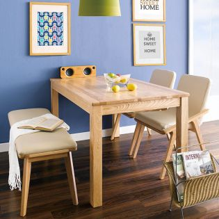 Nana-4-Natural  Dining Set (1 Table + 2 Chairs + 1 Bench)
