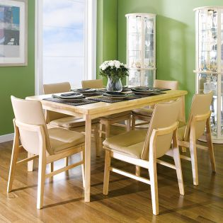 Guliver-6C-Beige  Dining Set (1 Table + 6 Chairs)