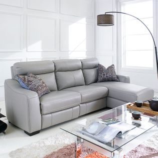 RS-10640  Power Leather Recliner Sofa (LAF Only)