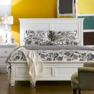 Tamarack-White  Queen Panel Bed(침대+협탁+화장대)