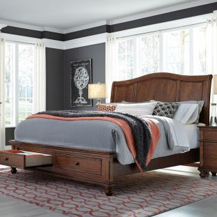 i07 Oxford Sleigh Storage Bed (침대+협탁+화장대)