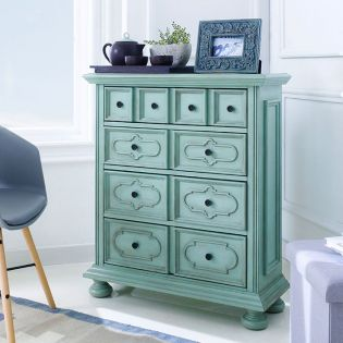 32100-Antique Green  Console Chest