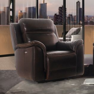 E1404  Power Leather Recliner Chair