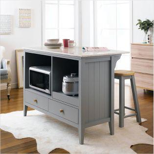 Roommate-Grey-Marble  Island Table