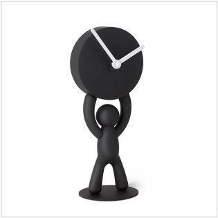118510-040 Buddy-Clock-Black Desk Clock