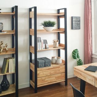 Moris-2-Drawer Bookcase