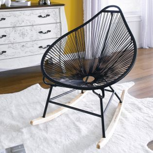 (0) Gozo-Black  Rocking Chair