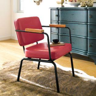 Square Back-Tan  Metal Chair