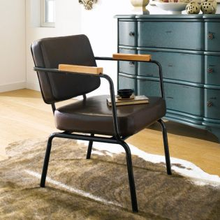 Square Back-Brown  Metal Chair