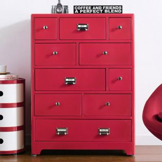 16-009-Red  Metal Cabinet