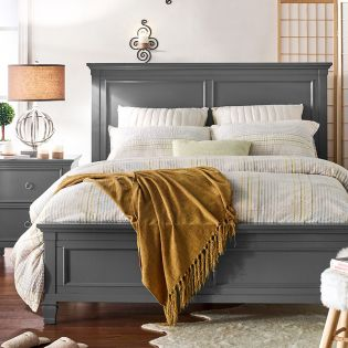 FR-Tamarack-Grey  Queen Panel Bed