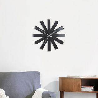 118070-040  Ribbon-Black Wall Clock