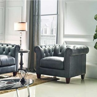 8687-10  Leather Chair
