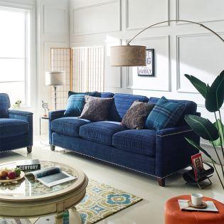 U4860-20  Sapphire Blue Sofa