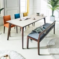 Crushblanko  Ceramic Dining Set (1 Table + 3 Chairs + 1 Bench)