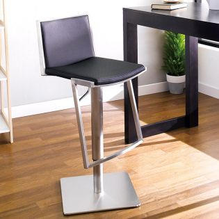 0894-BLK  Adjustable Bar Stool