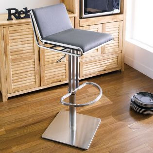 0896-GRY  Adjustable Bar Stool
