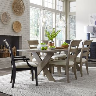 Breckenridge 8530  Dining Set  (1 Table + 2 Arm + 4 Side)
