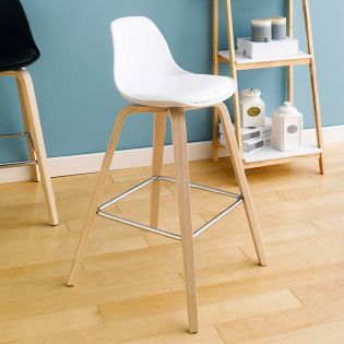 Zaki-White  Bar Chair