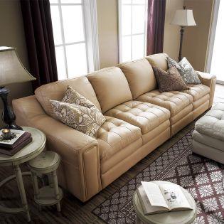 7491-Wheat  Leather Sofa (2+2)