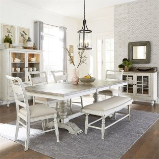 661W Dining Set   (1 Table + 4 Chairs + 1 Bench)