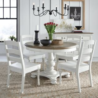 Farmdale 9770P  Round Dining Set  (1 Table + 4 Side)