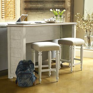 749-827  Console Table set  ( 1Table + 3 Stools)