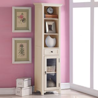 9048-Cream  Bookcase