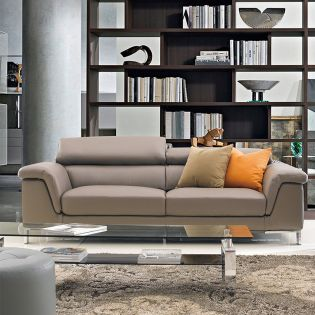 PS-0062-3S  Leather Sofa