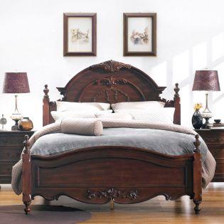 Angela-Brown  Queen Panel Bed