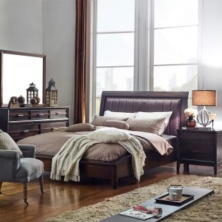 Windsong-Q  Queen Sleigh Bed