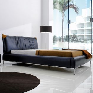 PYS1003  Leather King Bed