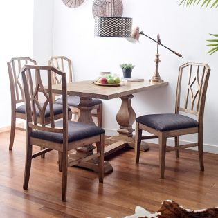 Lemino-4  Dining Set (1 Table + 4 Chiar)