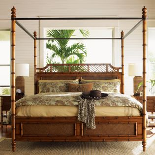 Island Estate  Canopy Bed (침대+협탁+화장대)