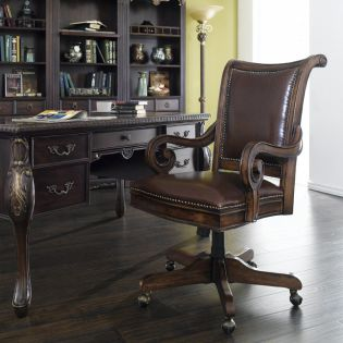 374-30-220  Leather Tilt Swivel Chair