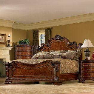 43155 Old World  Estate Bed (침대+협탁+화장대)