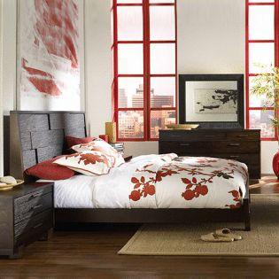 168 Sahara Platform King Bed (침대+협탁+화장대)