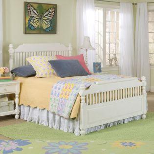 0850-4203K Olivia  Low Poster Twin Bed (침대) (매트 규격: 97cmx 193cm)