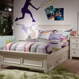 B572  Twin Panel Bed (침대 / No 서랍 + 화장대 + 협탁) (매트 규격: 97cmx 193cm)