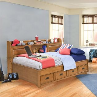 977-5500 Expedition  Twin Lounge Bed w/ Bookcase Headboard