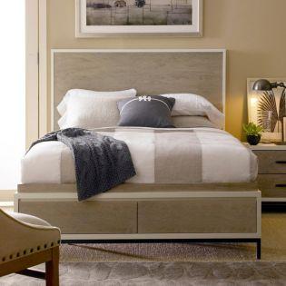 Spencer 219210SB  Panel Storage Bed (침대+협탁+화장대)